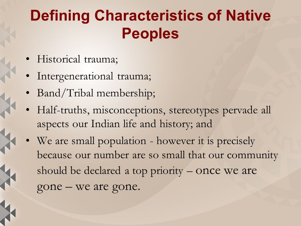 What is historical trauma.