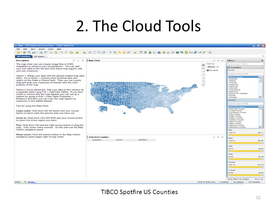 2. The Cloud Tools TIBCO Spotfire US Counties 12