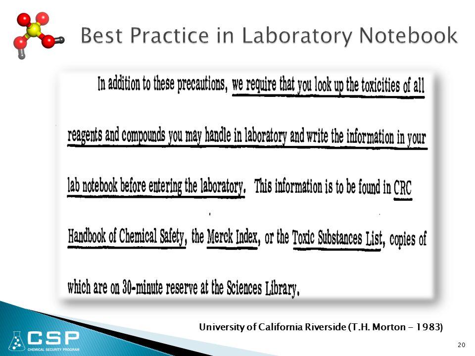 20 University of California Riverside (T.H. Morton - 1983 )