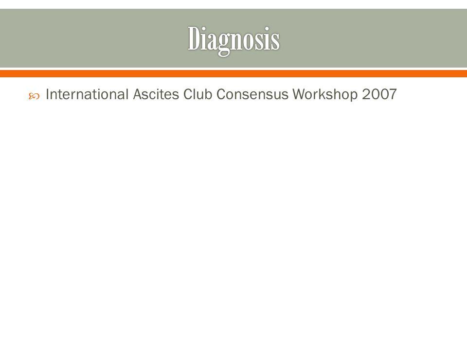  International Ascites Club Consensus Workshop 2007