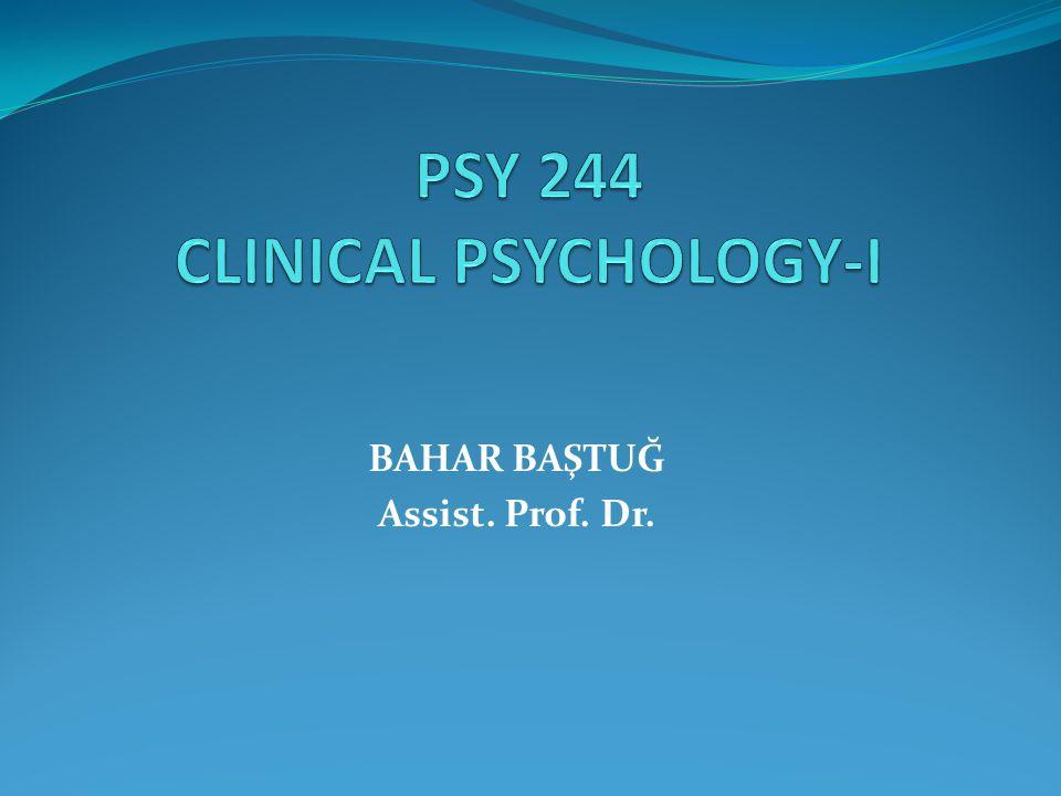 BAHAR BAŞTUĞ Assist. Prof. Dr.