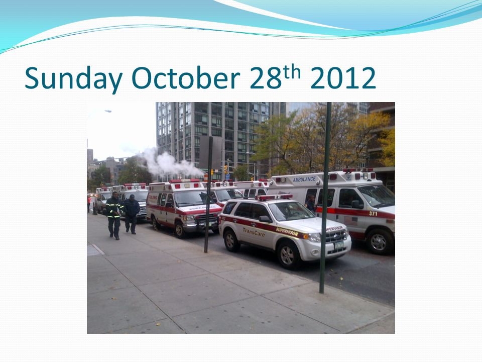 Sunday October 28 th 2012