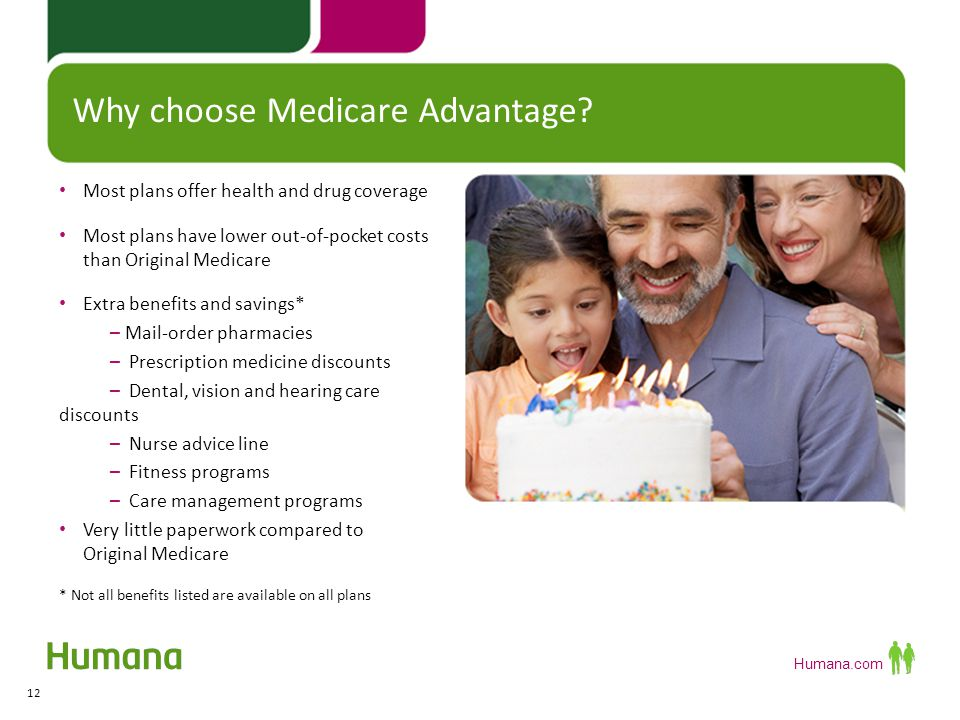Humana.com More plan choices with Medicare Advantage 13 Medicare Advantage (MA) plans Health Maintenance Organization (HMO) FIND OUT MORE FIND OUT MORE Preferred Provider Organization (PPO) FIND OUT MOREFIND OUT MORE Private-Fee-for-Service (PFFS) FIND OUT MOREFIND OUT MORE Part D Medicare Prescription Drug coverage May be purchased as a stand-alone plan; or As part of a Medicare Advantage Prescription Drug Plan (MAPD) All plans must meet minimum coverage level set by Medicare