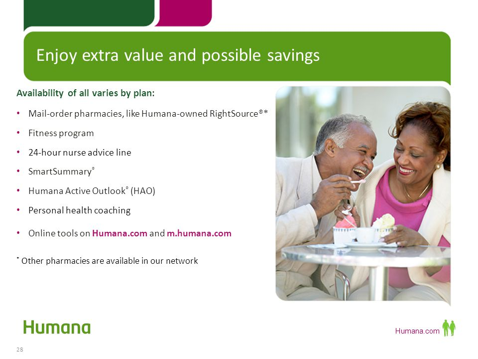 Humana.com If you choose to enroll with Humana Complete an application In the next two weeks: 29 If you choose to enroll with Humana Receive your Humana member identification (ID) card Member Benefit Package arrives in your mailbox Welcome Call - We'll contact you about completing a health questionnaire Humana processes your application and confirms your eligibility You'll receive a verification call for each enrollee in the household Medicare confirms your enrollment