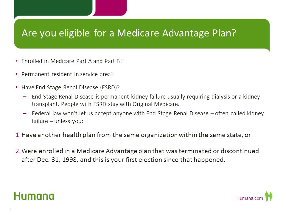 Humana.com 2014 Plan Year - Medicare Timeline 5 Compare plans so you'll be ready to enroll beginning Oct.