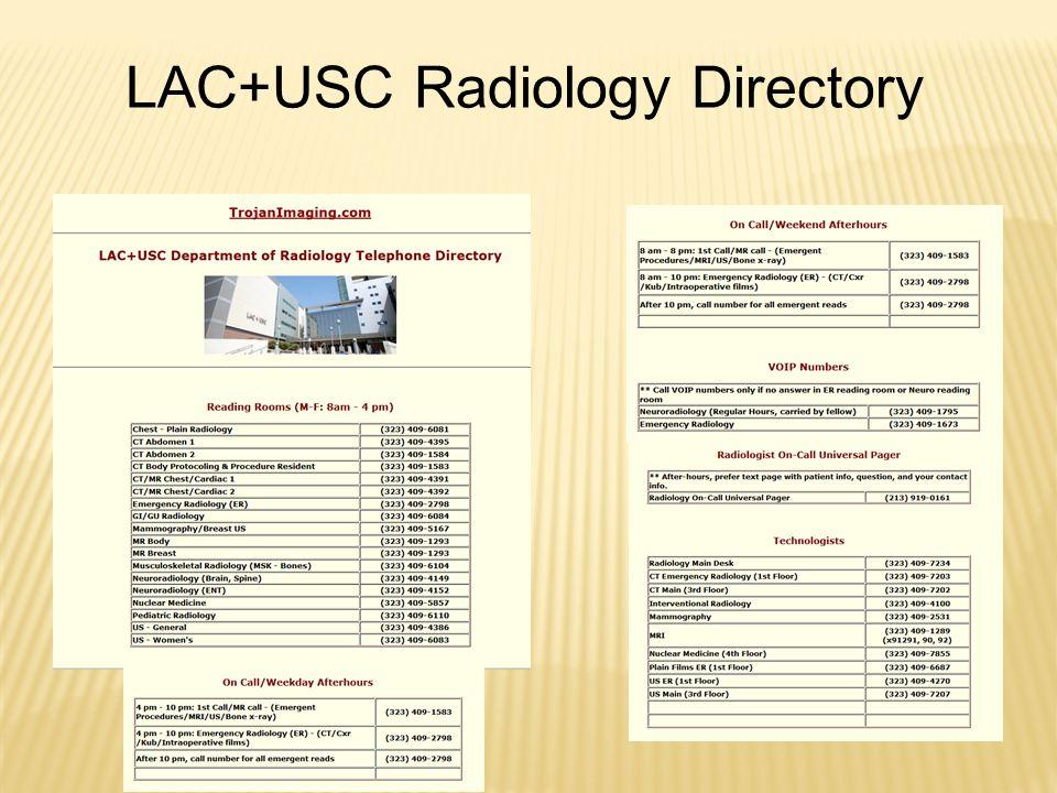 LAC+USC Radiology Directory