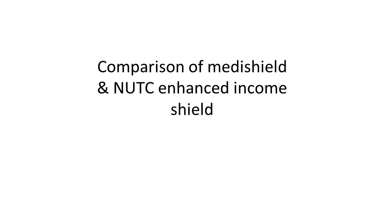 Comparison of medishield & NUTC enhanced income shield