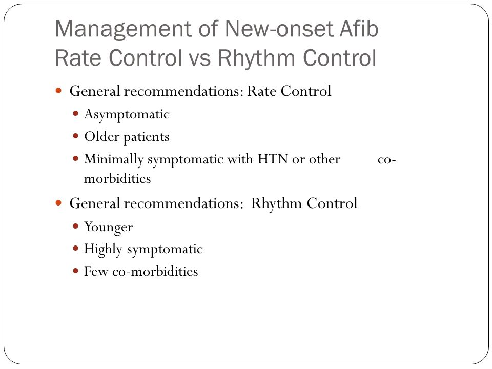 Rate Control Strategy A number of Intrinsic and extrinsic factors affect ventricular rate Intrinsic AV nodal condition properties Underlying sympathetic and parasympathetic tone
