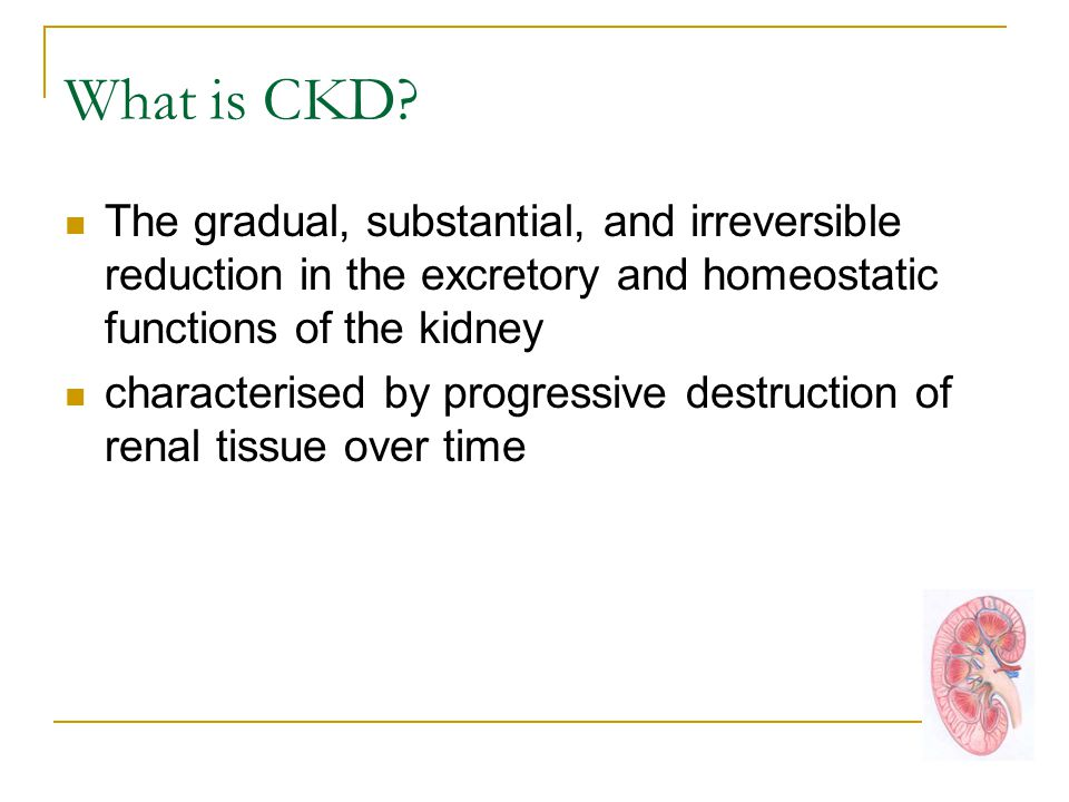 What is CKD.