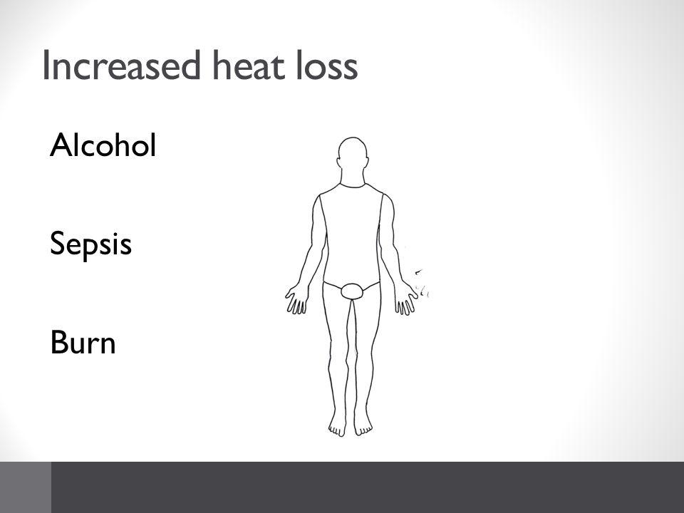 Increased heat loss Alcohol Sepsis Burn