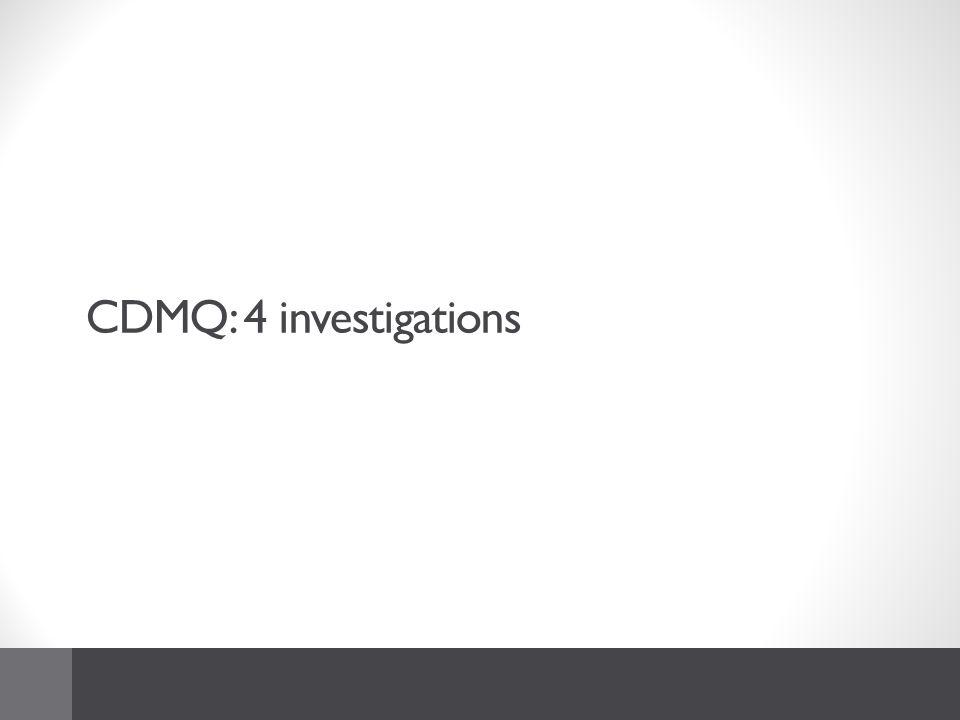 CDMQ: 4 investigations