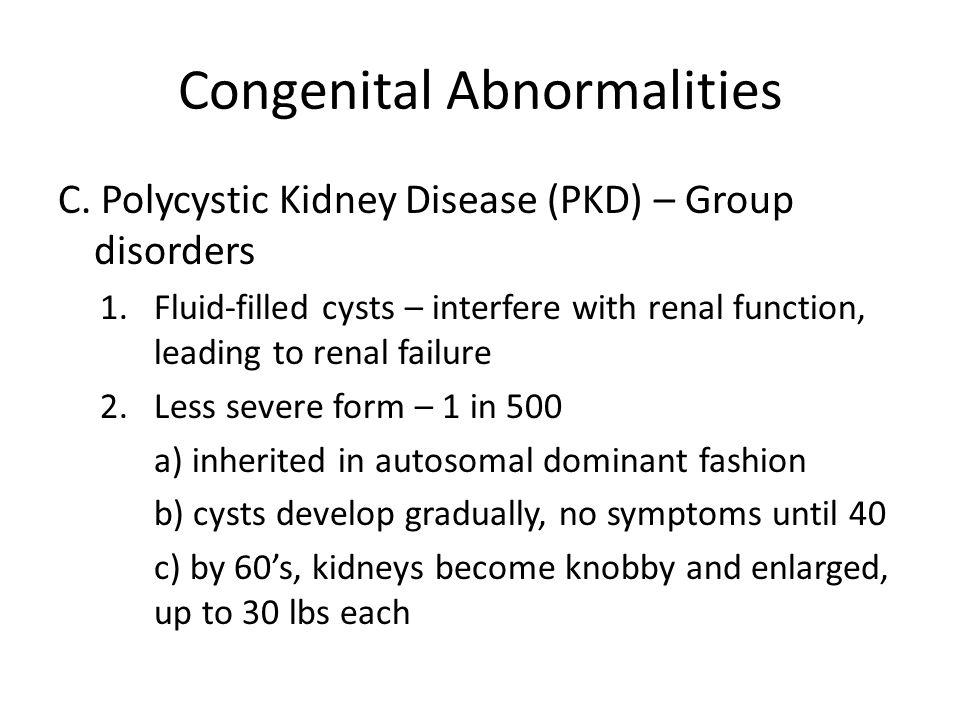 Congenital Abnormalities C.