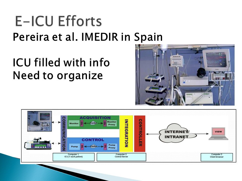 Pereira et al. IMEDIR in Spain ICU filled with info Need to organize
