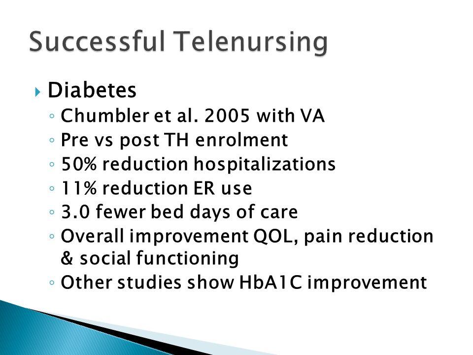  Diabetes ◦ Chumbler et al.