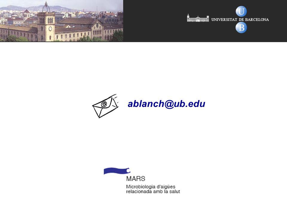 UNIVERSITAT DE BARCELONA ablanch@ub.edu
