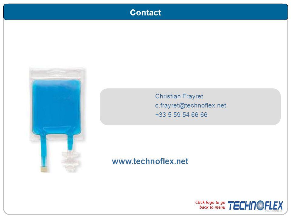 Contact Christian Frayret c.frayret@technoflex.net +33 5 59 54 66 66 www.technoflex.net Click logo to go back to menu