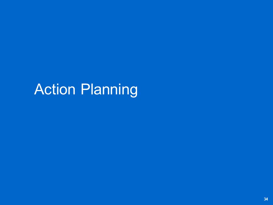 Action Planning 34