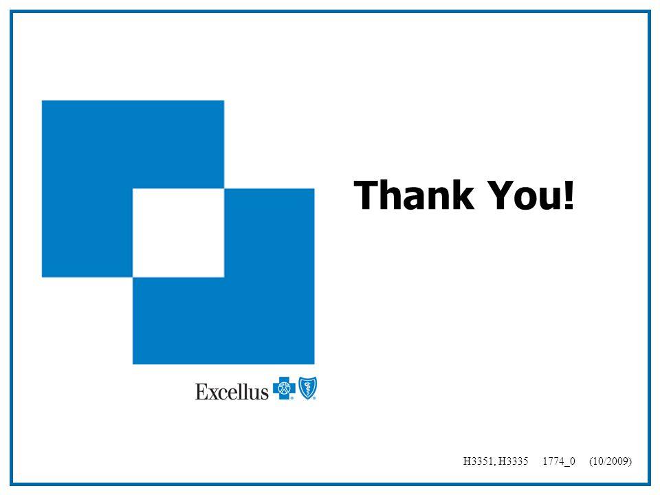 Thank You! H3351, H3335 1774_0 (10/2009)