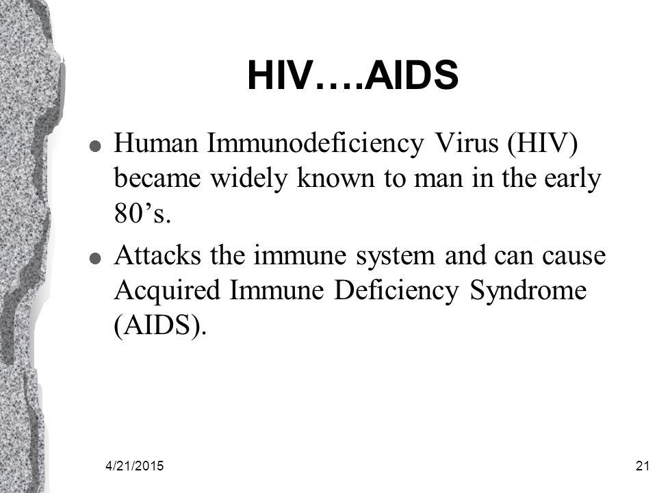 4/21/201520 HIV
