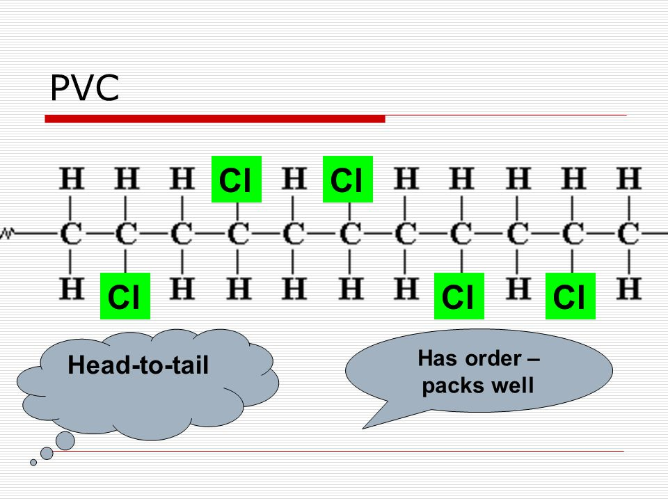PVC Cl Head-to-tail Has order – packs well