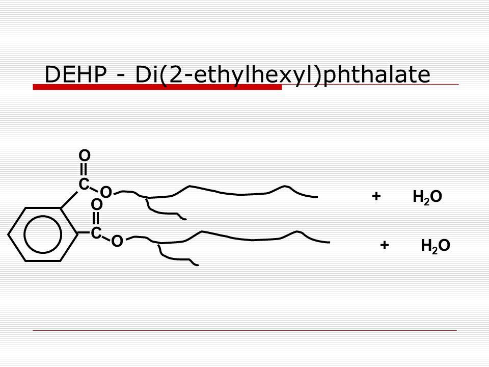 O C O C O O DEHP - Di(2-ethylhexyl)phthalate +H2OH2O +H2OH2O