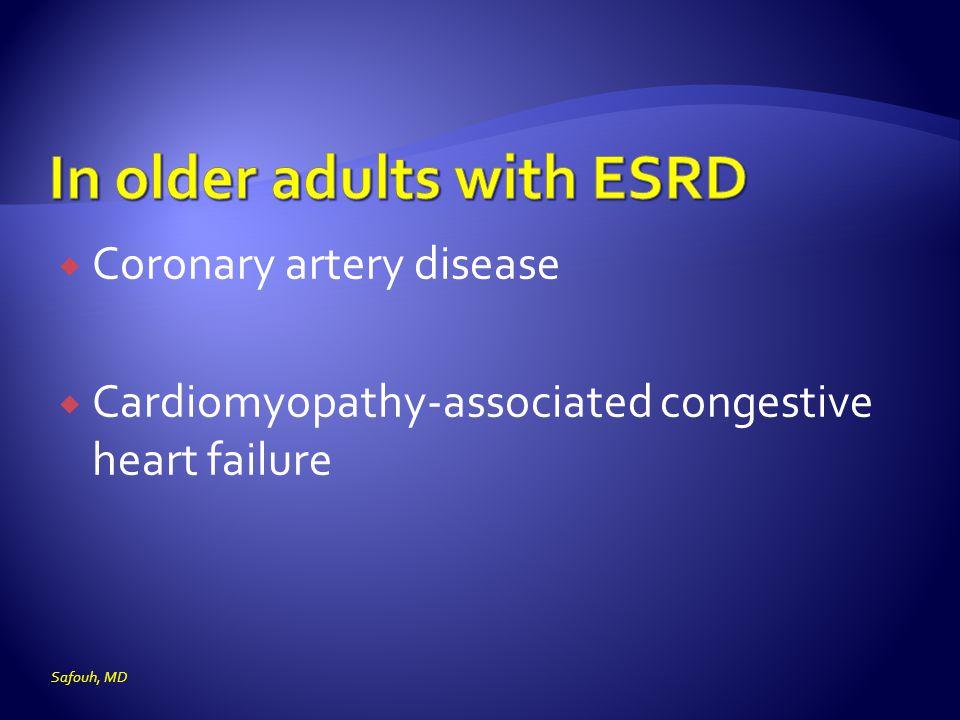  Coronary artery disease  Cardiomyopathy-associated congestive heart failure Safouh, MD