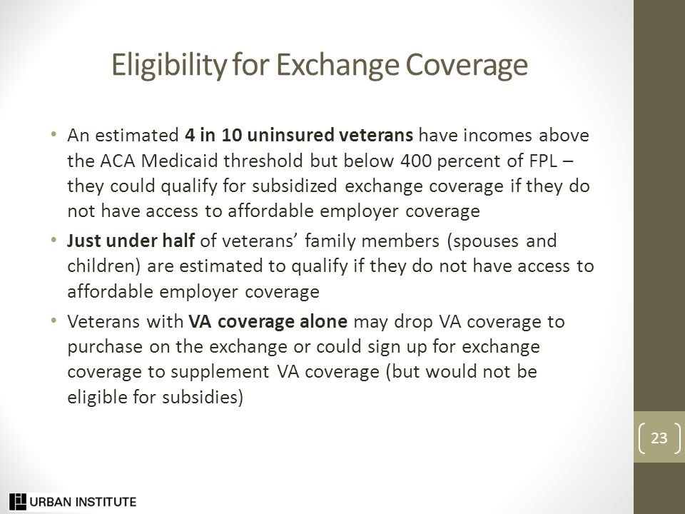 Priority Research Questions How well are ACA outreach and enrollment efforts working for veterans and their families.