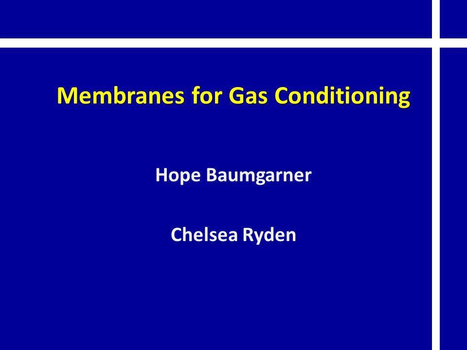 Membranes for Gas Conditioning Hope Baumgarner Chelsea Ryden