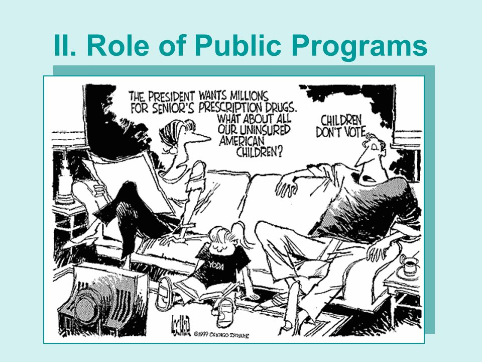 II. Role of Public Programs