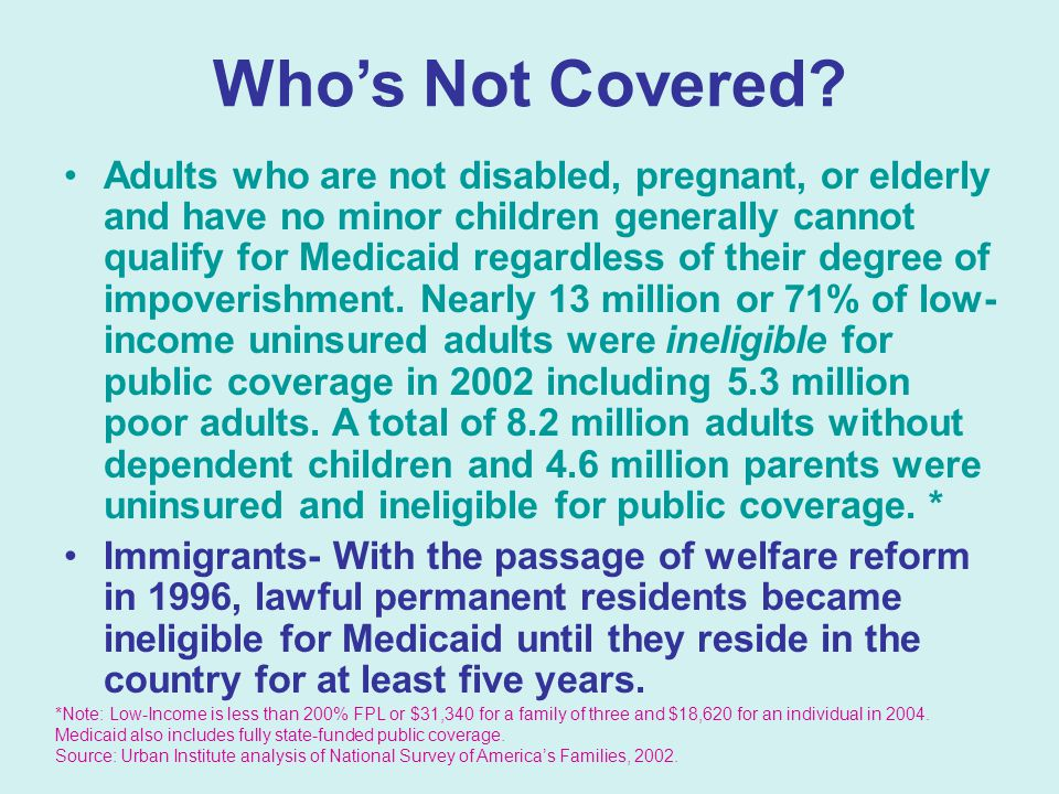 Who's Not Covered.