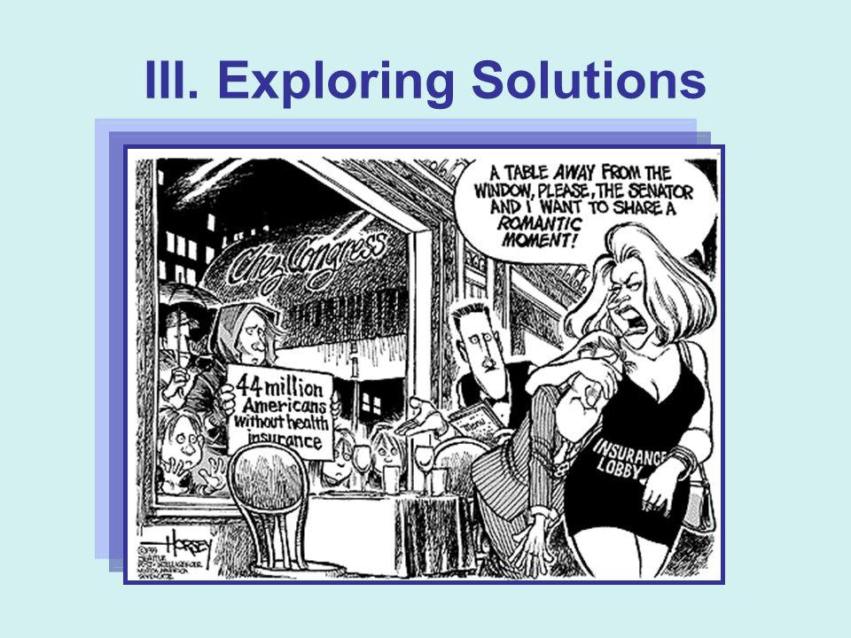III. Exploring Solutions