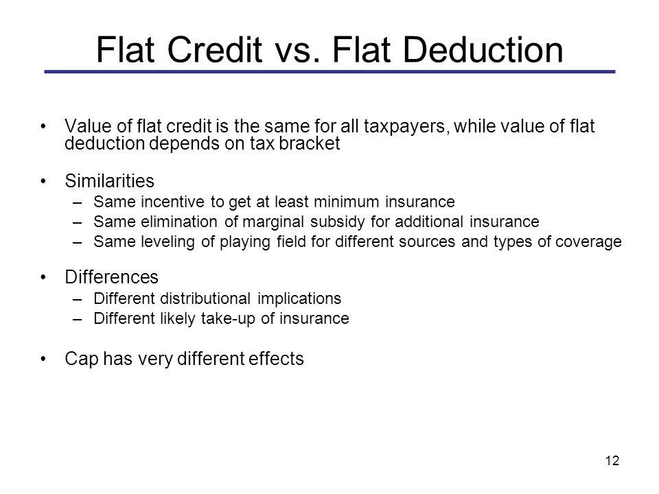 12 Flat Credit vs.