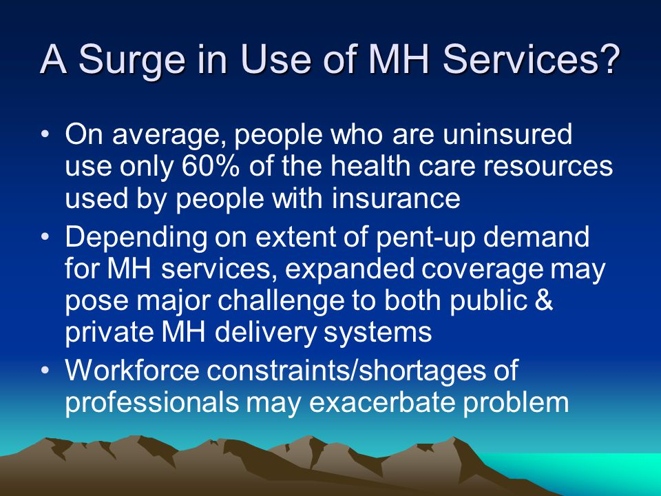 A Surge in Use of MH Services.