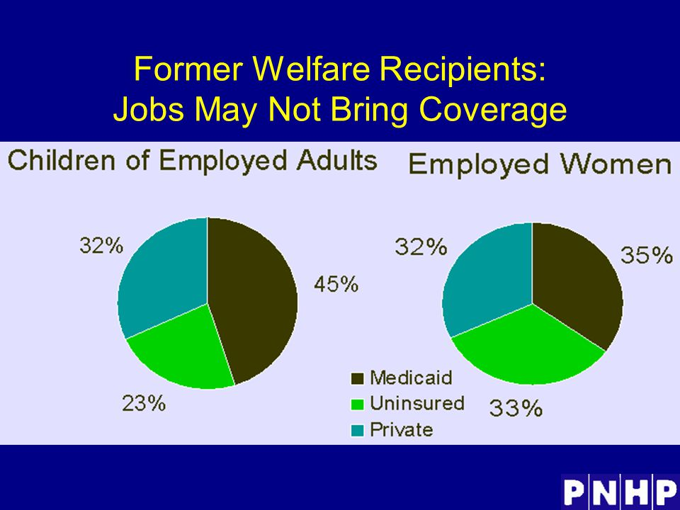 Former Welfare Recipients: Jobs May Not Bring Coverage
