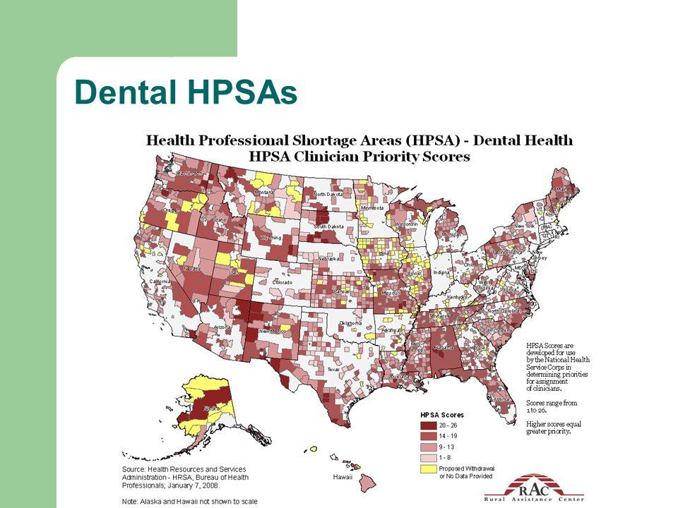 Dental HPSAs