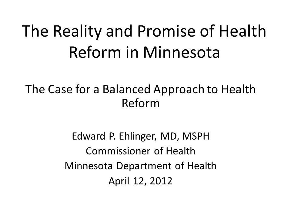 E-Health Minnesota also passed significant e-health measures including: E-prescribing mandate Interoperable health records mandate Office of Health Information Technology