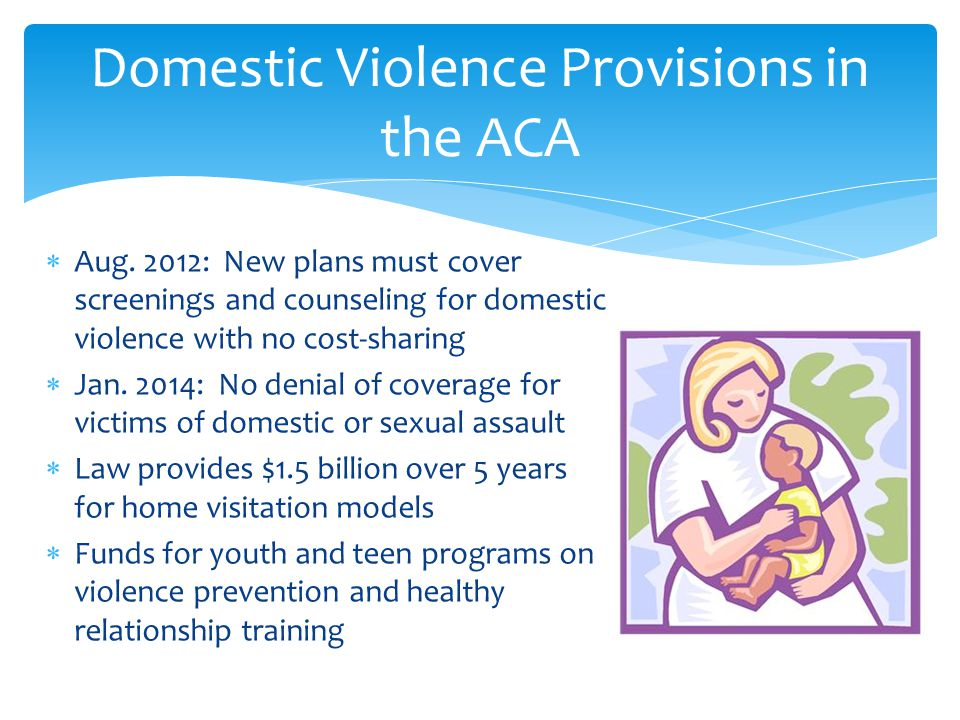 Domestic Violence Provisions in the ACA  Aug.