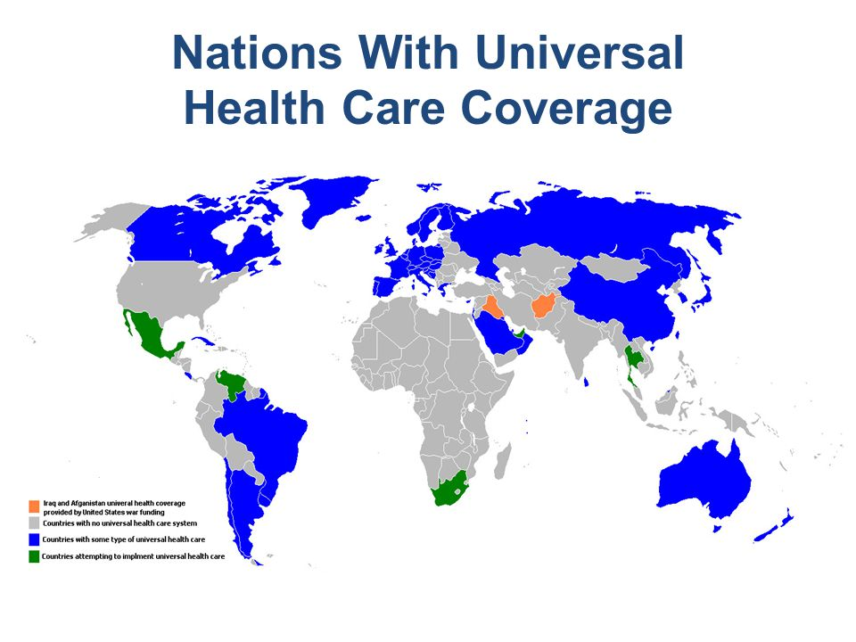 Nations With Universal Health Care Coverage