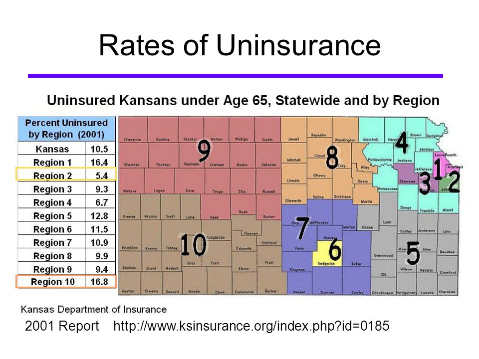 Rates of Uninsurance 2001 Report   id=0185