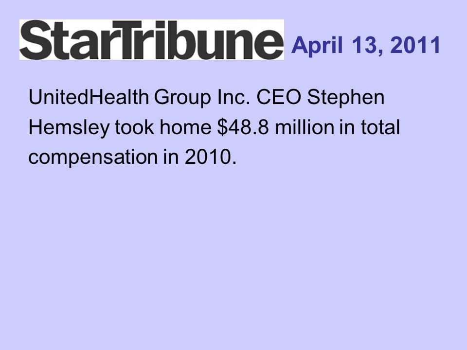 April 13, 2011 UnitedHealth Group Inc.