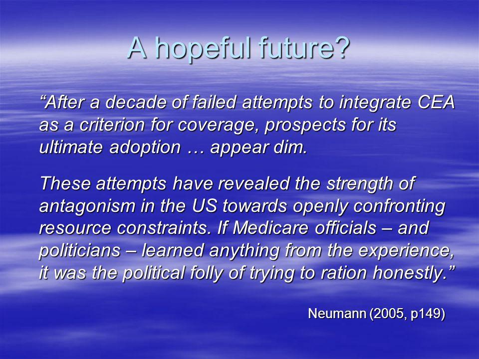 A hopeful future.