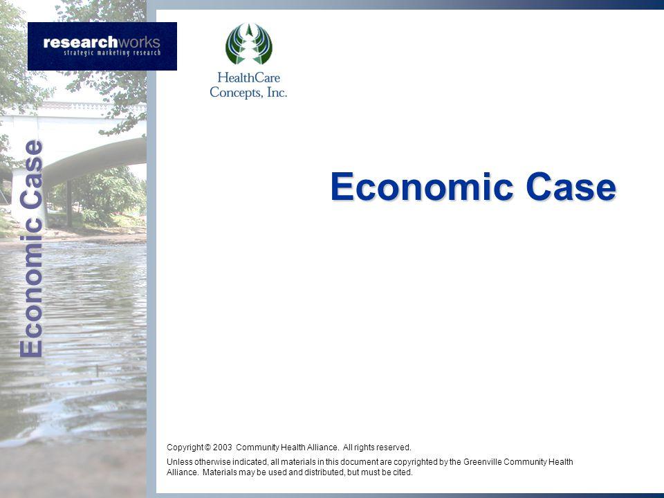 Economic Case Copyright © 2003 Community Health Alliance.