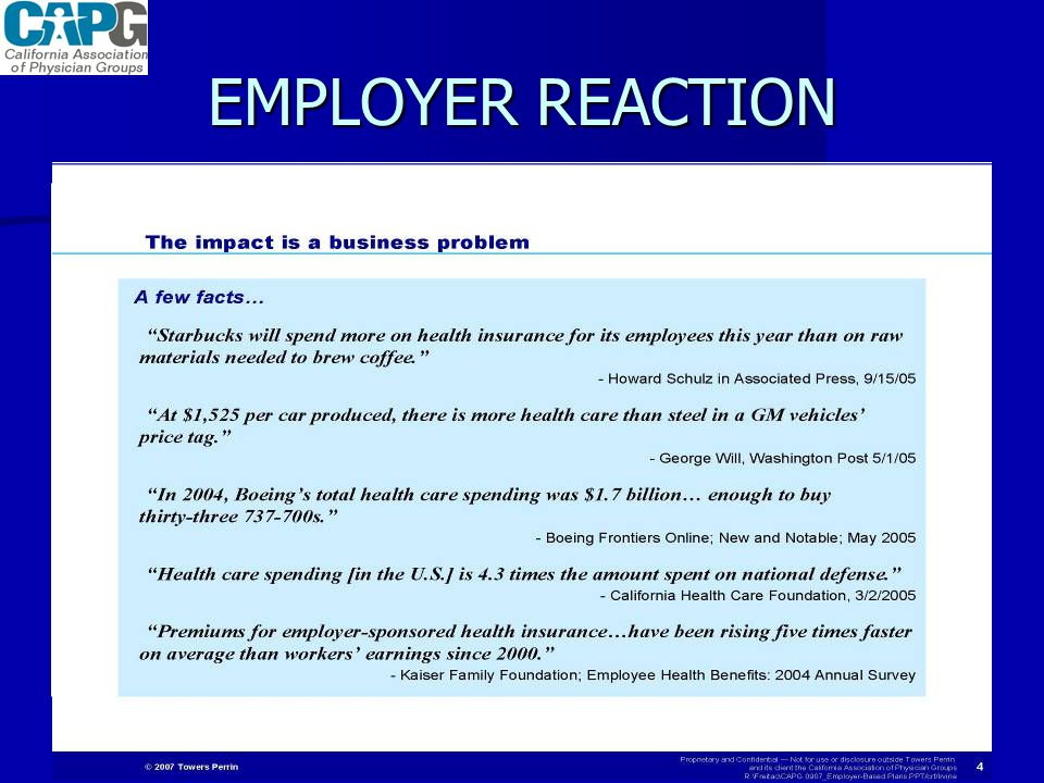 EMPLOYER REACTION