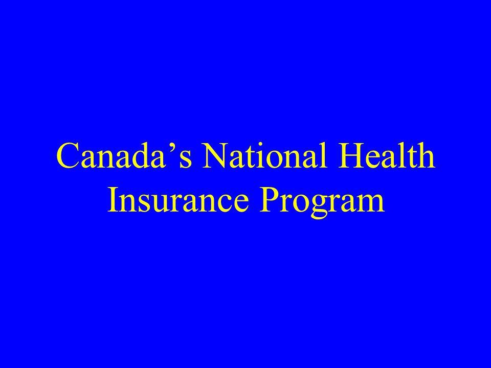 Canada's National Health Insurance Program