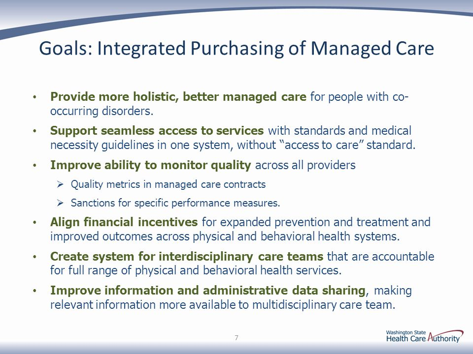 Medicaid Integrated Purchasing – Thoughts/Concerns from January 5, 2015 38 Tribal Thoughts/ConcernsHCA's Response Mobile clients: What protections will MCO clients have when they travel outside an RSA.