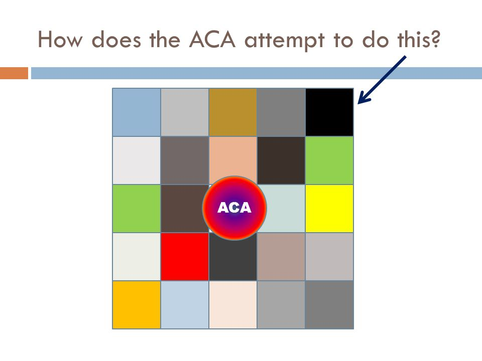 How does the ACA attempt to do this? ACA