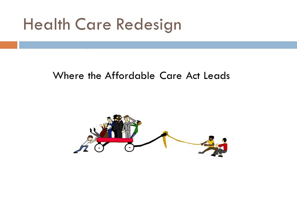 Health Care Redesign Where the Affordable Care Act Leads