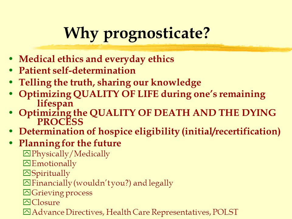 Why prognosticate.