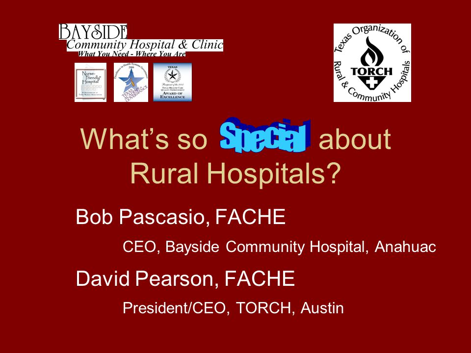 What's so about Rural Hospitals.