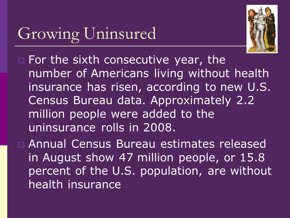 Growing Uninsured Rank States Amount StatesAmount # 1 Texas:825,635 Texas # 2 Florida:630,042 Florida # 3 Pennsylvania:408,822 Pennsylvania # 4 California:394,784 California # 5 Georgia:360,563 Georgia # 6 New Jersey:291,238 New Jersey # 7 Maryland:263,616 Maryland # 8 Michigan:258,653 Michigan # 9 Virginia:245,525 Virginia # 10 North Carolina:231,465 North Carolina
